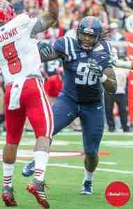 Faded Brown recorded 38 tackles in 2014 for the Rebels and also was second on the team in QBH with 5. (Photo Credit: Bentley Breland)