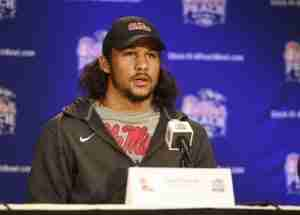 Cody Prewitt answered questions at the Ole Miss press conference Monday.