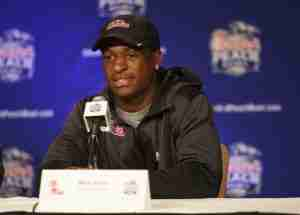 Mike Hilton speaks to the media Monday before Wednesday's Peach Bowl.