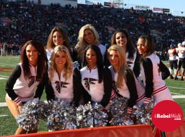 Falcon cheerleaders at Senior Bowl