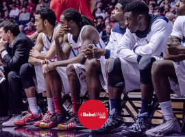 Rebels watch from the bench in game vs Florida