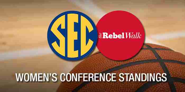 Women's SEC Basketball Standings