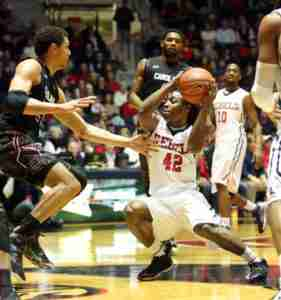 Stefan Moody scored all 16 of his points in the 2nd half vs. South Carolina. (Photo courtesy of Ole Miss Athletics)