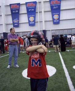 "Chance enjoying ""Meet The Rebels Day"" in 2011. (Photo courtesy of The Tetrick Family.)"
