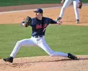 Evan Anderson against Arkansas St. earlier this season. (Photo Credit: Joshua McCoy, Ole Miss Athletics)