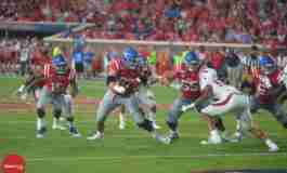 O-line improvement leads to Rebels' strong offensive showing against Arkansas