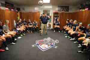 Coach Matt Mott and his Rebels are 3-0-1 so far on this season. (Photo credit: Joshua McCoy, Ole Miss Athletics)