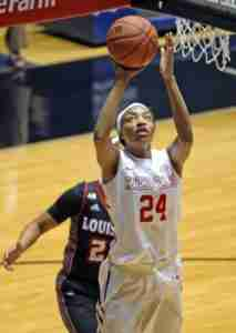 Bretta Hart had a team-high 19 rebounds for the Rebels. (Photo credit: Joshua McCoy, Ole Miss Athletics)