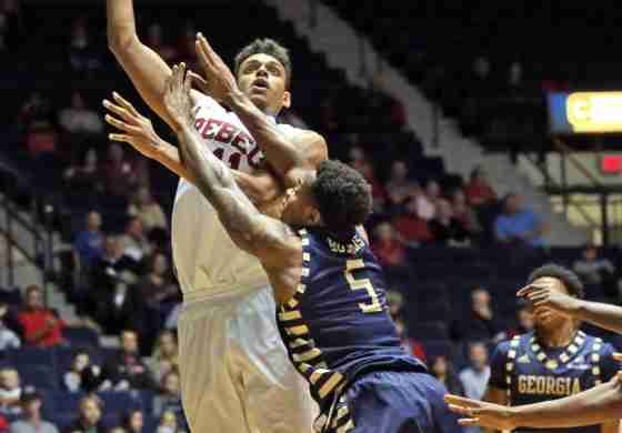 Ole Miss outlasts Georgia Southern 82-72 behind Saiz's second double-double