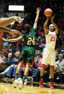 Sessom had a career-high 24 points in the season opening against MVSU. (Photo credit: Joshua McCoy, Ole Miss Athletics)