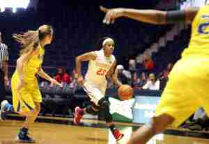 Sessom recorded her second career double-double, scoring 22 points and grabbing 10 rebounds. (Photo credit: Joshua McCoy, Ole Miss Athletics)