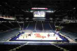 Ole Miss women's basketball team will play its first game in Then Pavilion on January 10. (Photo credit: Joshua McCoy, Ole Miss Athletics)