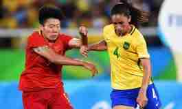Former Ole Miss soccer star Rafaelle Souza helps lead Brazil to Olympic semifinals