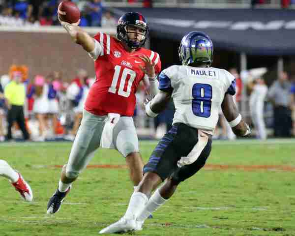 No. 12 Ole Miss faces No. 22 Arkansas in Rebels' first SEC road game of 2016