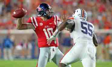 Rebels drop hard-fought game to No. 15 Auburn, 40-29