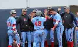 Diamond Rebels win game three, 9-6, and take series from Missouri