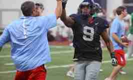 News and Notes from Monday's Ole Miss Practice: Rebels hit the field in full pads