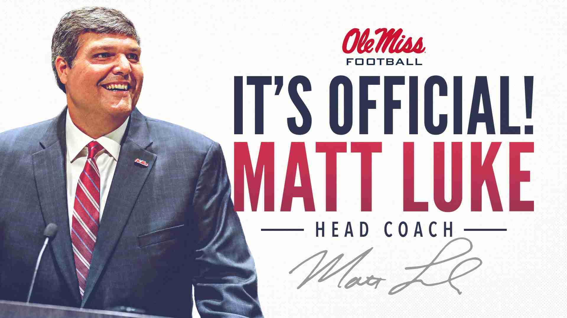 Ole Miss names interim Matt Luke its permanent coach