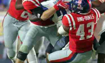 Detric Bing-Dukes drawing on his experience to help the younger Ole Miss linebackers