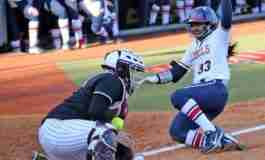 Ole Miss senior Elantra Cox enters the record books in Rebels' 7-6 victory over State