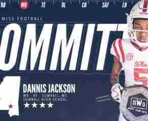 Four-star WR Dannis Jackson flips from MSU to Ole Miss