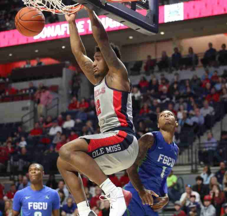Ole Miss dominates Florida Gulf Coast, 87-57, in final non-conference game of 2018