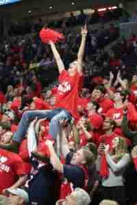Ole Miss fans created an electric atmosphere in The Pavilion.