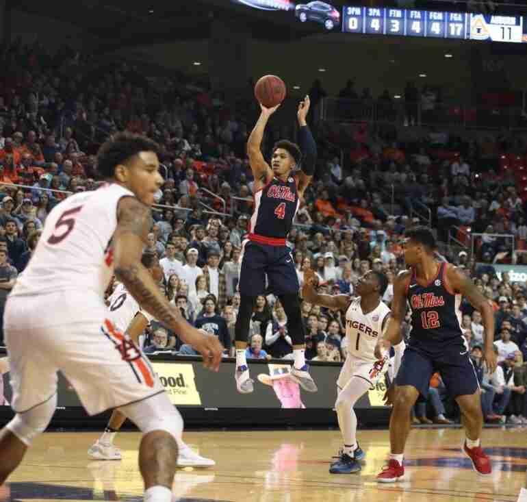 Rebels' stifling defense leads to season sweep of Auburn