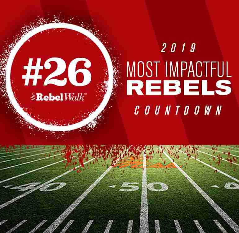 Most Impactful Rebels for 2019: No. 26 Tariqious Tisdale
