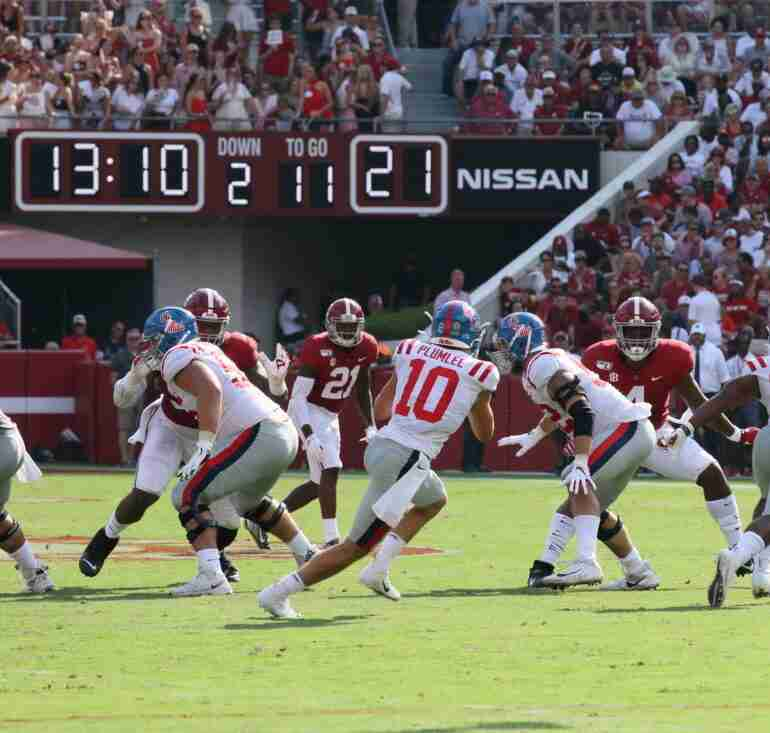 Ole Miss falls to Alabama, Plumlee only second QB ever to rush for 100 yards vs. Saban's Tide
