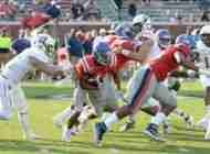 Ealy's record-breaking day helps push Rebels past SLU, 40-29