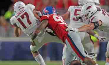 Landshark Defense plays big role in Rebels' win over Arkansas