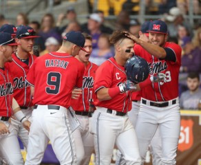 Rebels battle hard but drop deciding third game at No. 8 LSU, 3-2