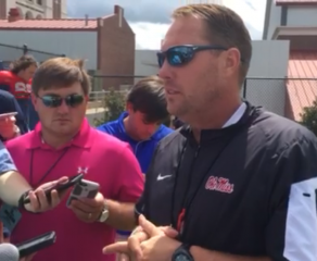 Coach Freeze gives update on Rebels' first scrimmage and injuries